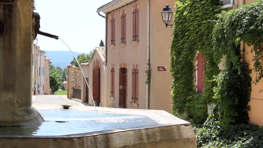 Fountain in french village. Provence