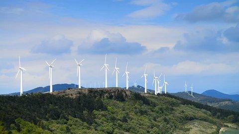 wind power plant, Camino de Santiago from Pamplona to the Puente la Reina, Escultura al Camino de Santiago, Spain, Europe.