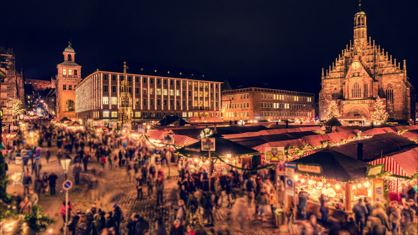 Nuremberg Christmas Market.Nuremberg Christmas Market Christkindlesmarkt Night Stock Footage Video 100 Royalty Free 34606378 Shutterstock