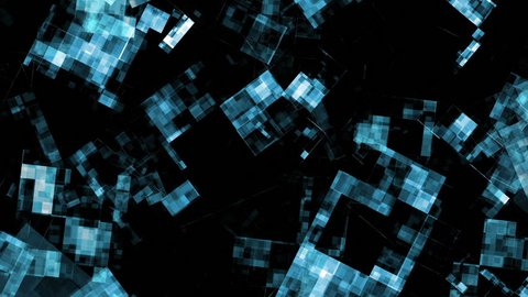 Video Background 2289: Abstract data forms flicker, shift and pulse (Loop).