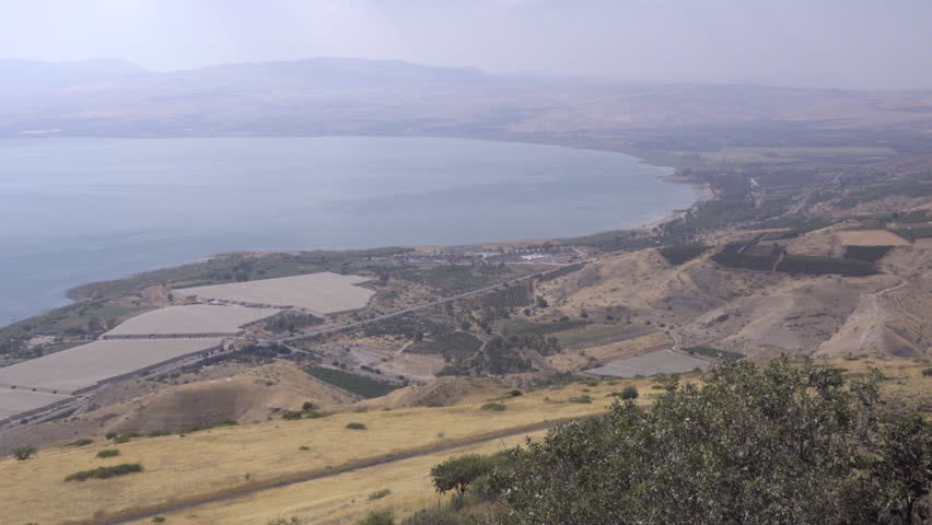 The view of farmland along the Sea of Galilee | Shutterstock HD Video #34824298