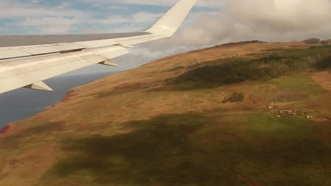 Plane over Rapa Nui (Easter Island)
