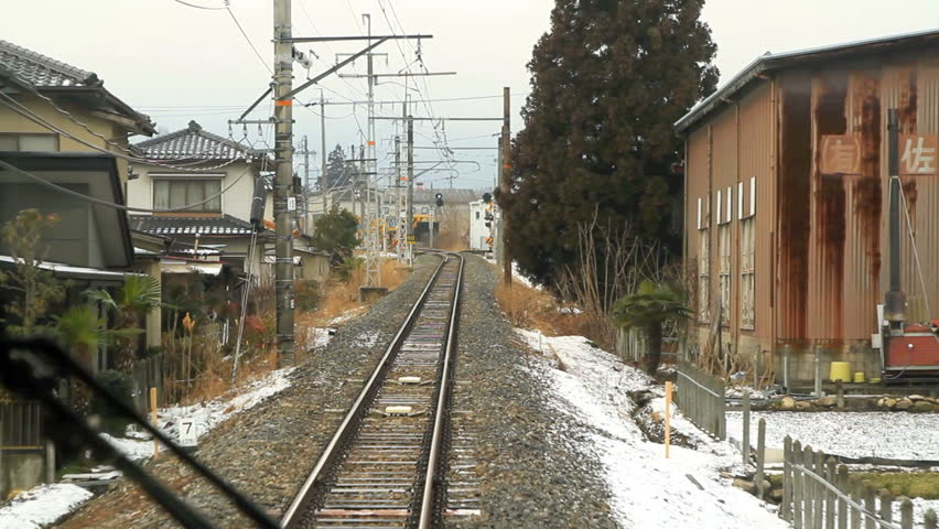 View from moving train Window. Nagano Prefecture, Japan. POV | Shutterstock HD Video #3487658