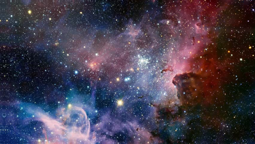 Stellar nebula. galaxy in deep space. deep space exploration. star fields and nebulas in space | Shutterstock HD Video #34893178