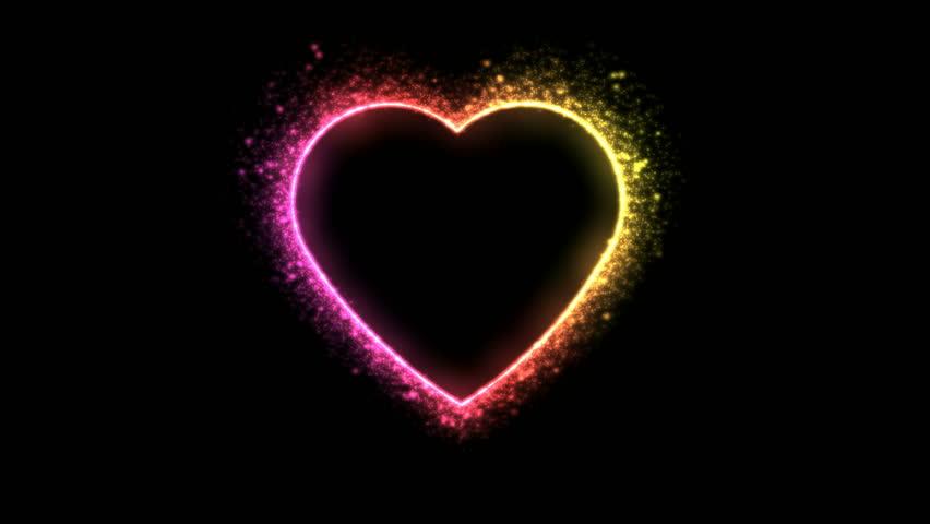 Glittering Heart Shape Animation - Loop Rainbow | Shutterstock HD Video #34949578