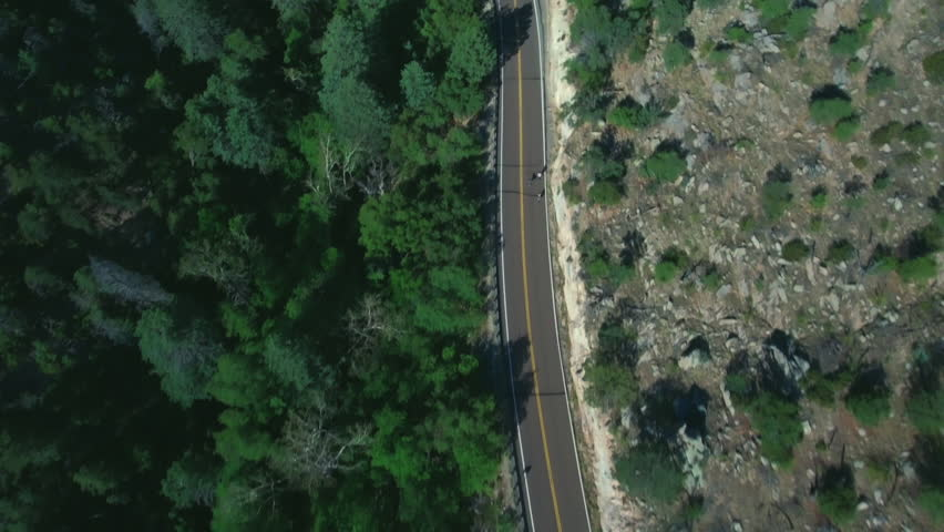 WS AERIAL HA TS Winding road next to forest / Encinitas, Monument Valley, Tucson, Quebec, Colorado, USA #34973818