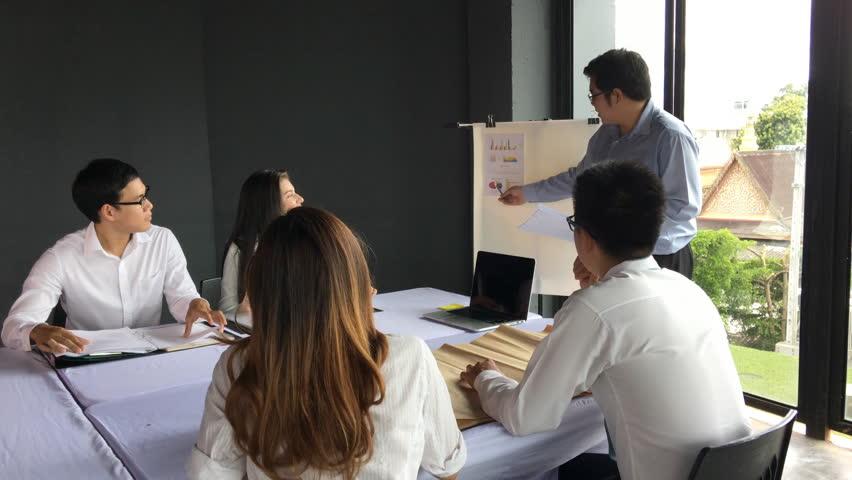 Business work concept, Teamwork meeting plan for success organization. | Shutterstock HD Video #34981582