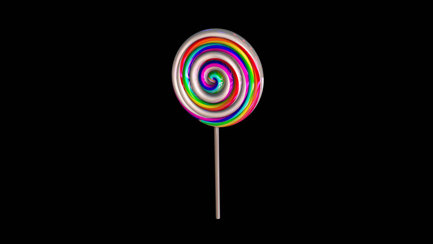 Seamless animation of a lollipop isolated with alpha channel.