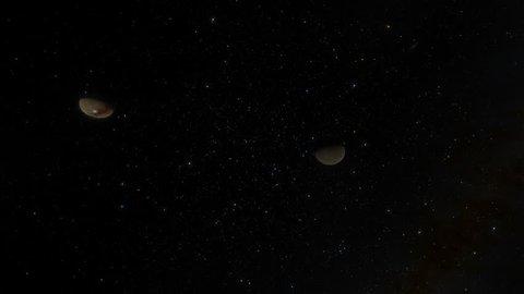Charon Moon and Pluto Kuiper Belt
