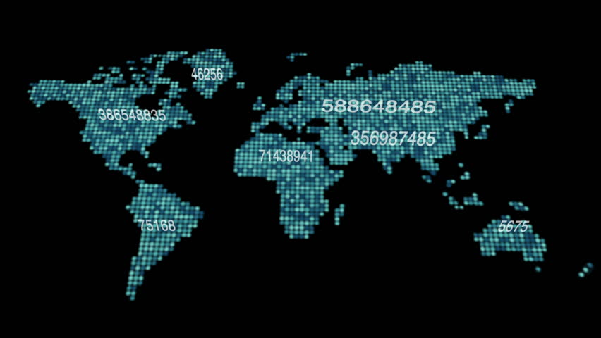 3d seamless animation of Global Business Network. Earth rotating in Space. Scientific Concept.