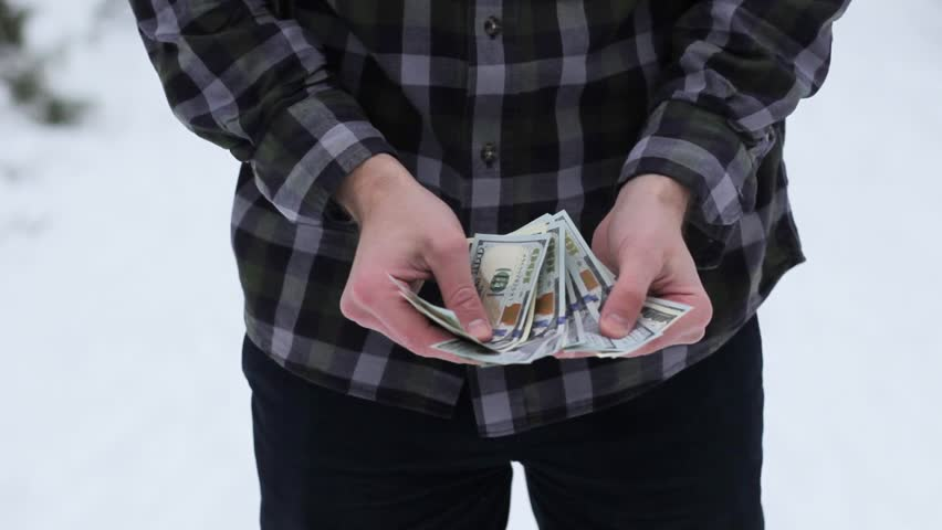 A wealthy guy counts money | Shutterstock HD Video #35038276