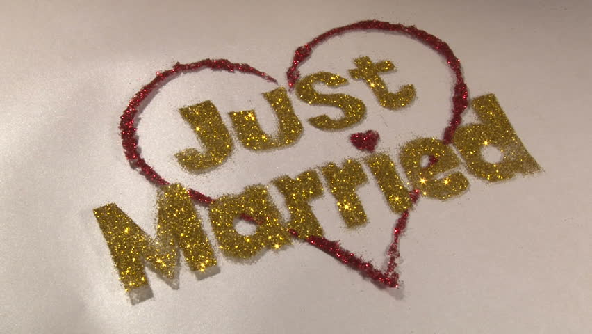 Just Married, gold dust sign, rotate