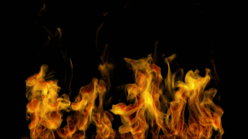 Igniting fire isolated on black background. Alpha-channel included | Shutterstock HD Video #3528098