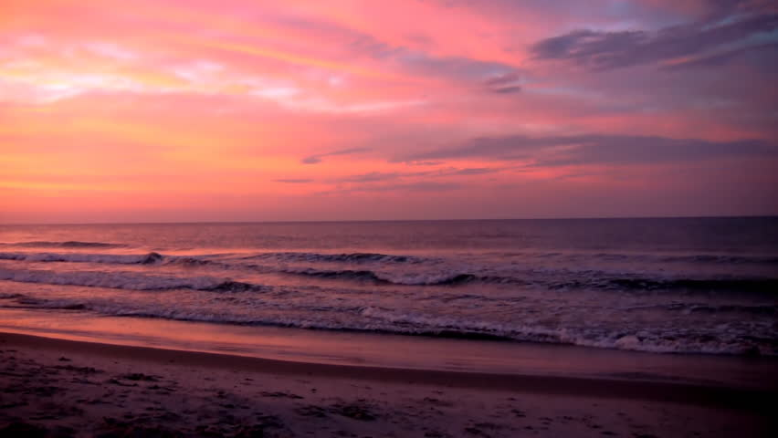 A Beautiful Sunrise In Myrtle Beach South Carolina On Summer Morning Stock Footage Video 3586958