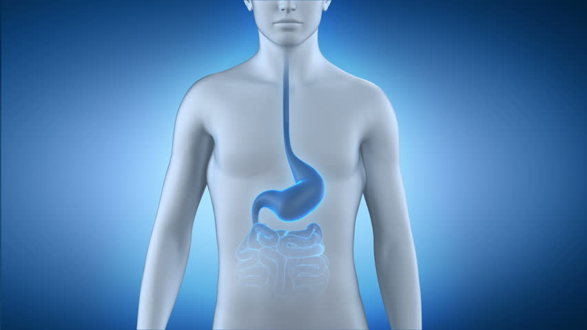 Male taking pill for stomach disease