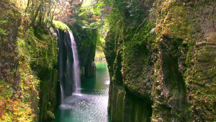 A Waterfall Of The Ravine Stock Footage Video 100 -7512