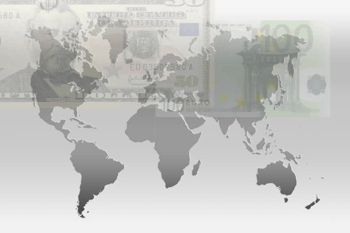 World map drawing all countries stock footage video 30983677 dollar and euro bills over gray world map sd stock footage clip gumiabroncs Choice Image