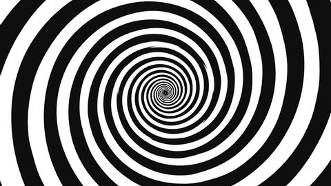 crazy black and white spiral
