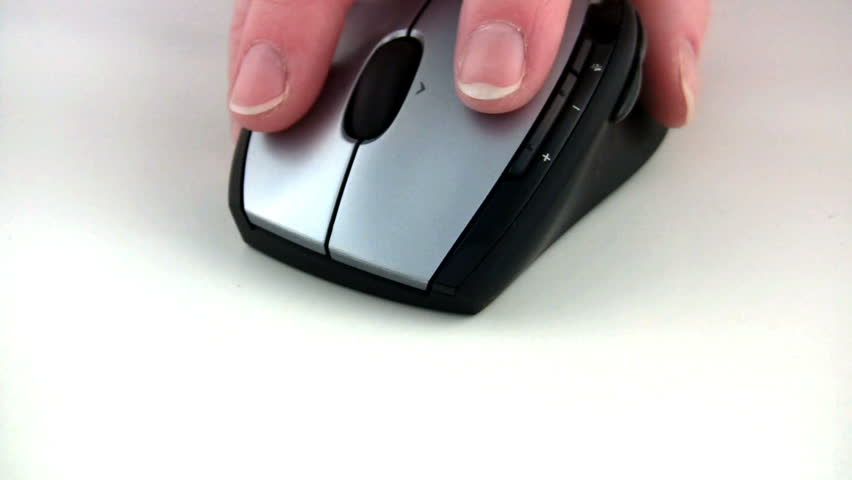Close-up of using a mouse.