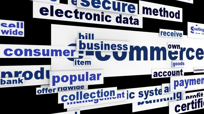 E-commerce internet business design. Online shopping message concept