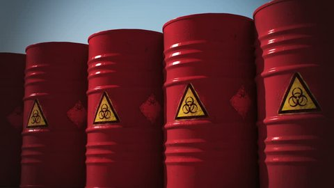 Bio hazard barrels.