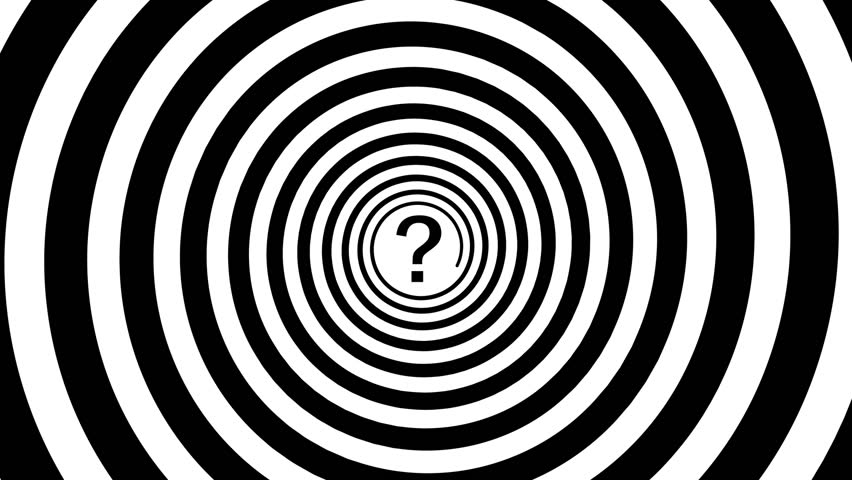 1920x1080 FullHD video - Hypnotic turning spiral and a question mark in the center