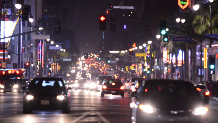 Time Lapse of Hollywood Blvd at Night Circa March 2013 - HD stock video clip & City Lights And Cars Driving In Traffic Background Times Square ... azcodes.com