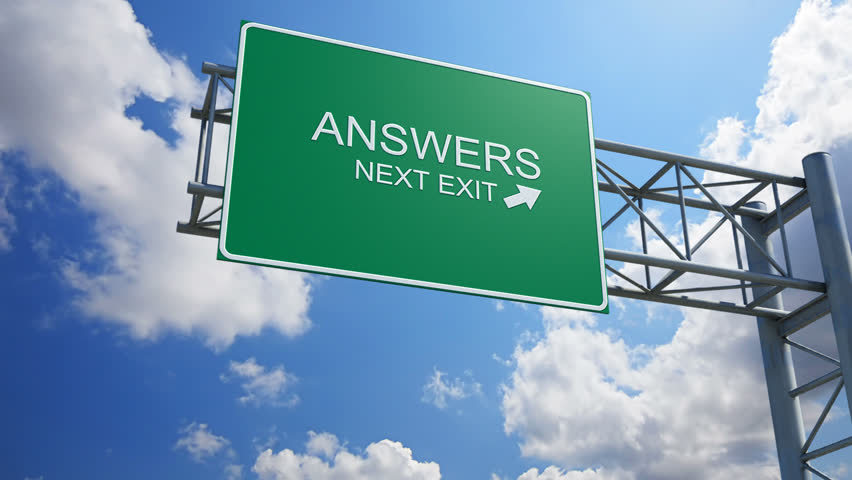 Answers - 3D Highway Exit Sign
