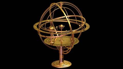 Armillary Sphere. Matte. Loop.