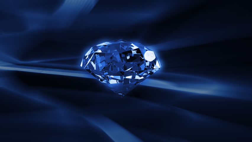 Diamond rotating against abstract background,seamless loop