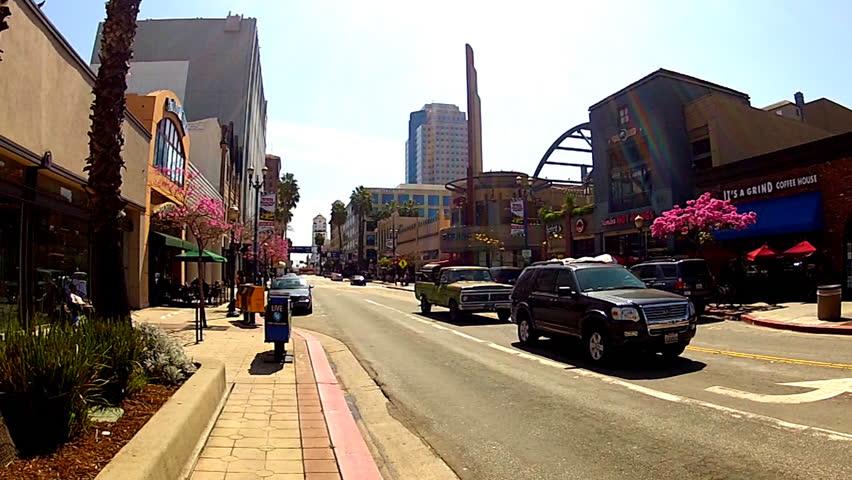 Pine Street Long Beach Stock Video Footage 4k And Hd Clips Shutterstock