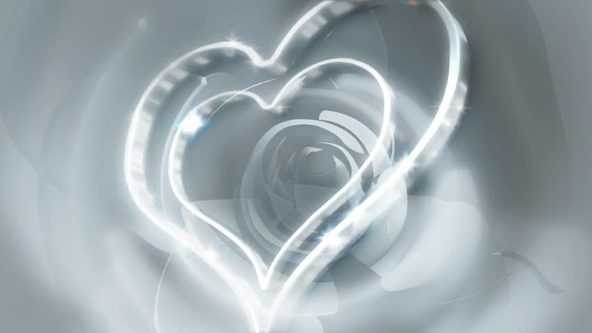 Silver Hearts Abstract Background
