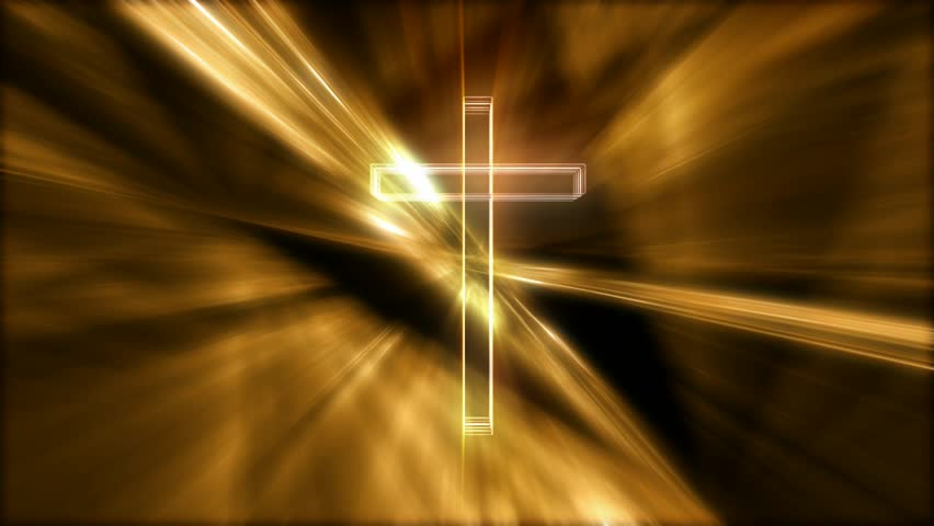 Rotating Hologram Cross Golden
