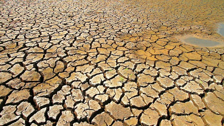 Dry ground caused by drought