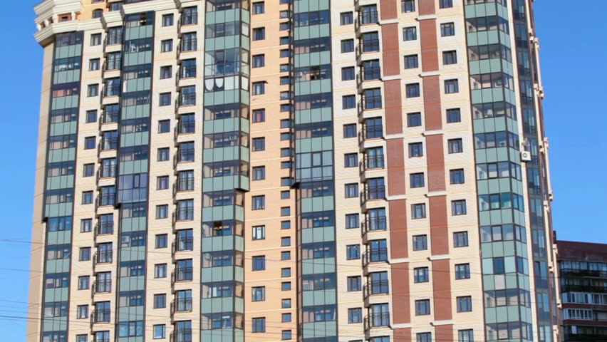 The Facade Of A High Rise Apartment Building Roximation Camera