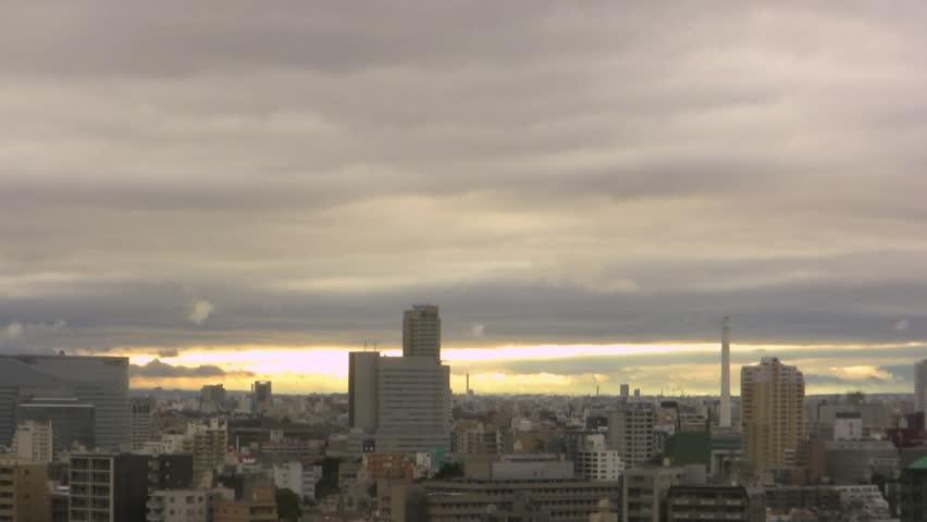 Tokyo Cityscape Time Lapse    Shutterstock HD Video #3680168