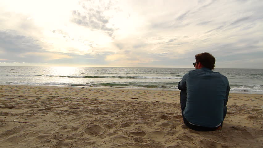 Image result for sad men and blue beach