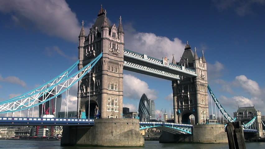 Full HD 1080p. Time Lapse Of Tower Bridge In London ...