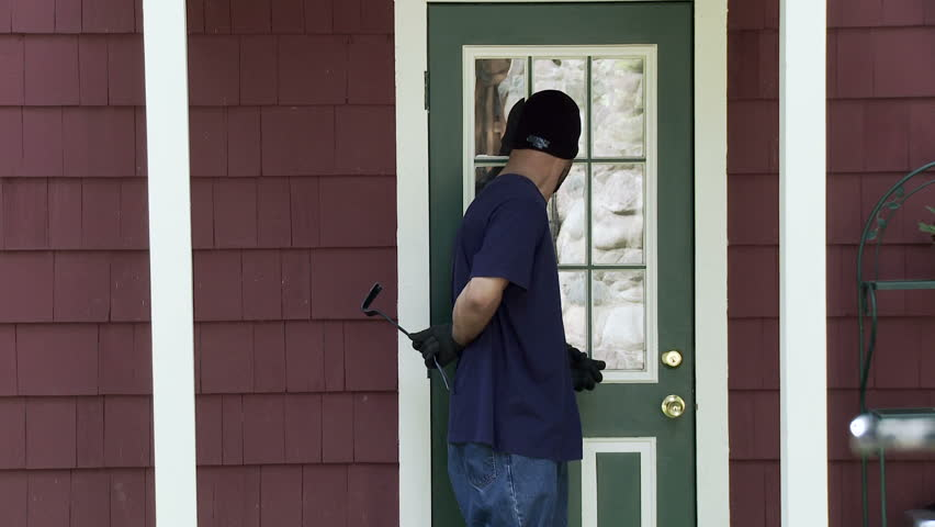 Burglar makes his way up to a house door looks around finds the door & Burglar Makes His Way Up To A House Door Finds It Unlocked And ... Pezcame.Com