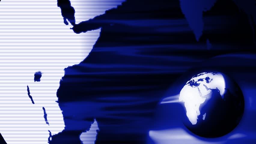Particular Globe News Background 4K Blue Rolling