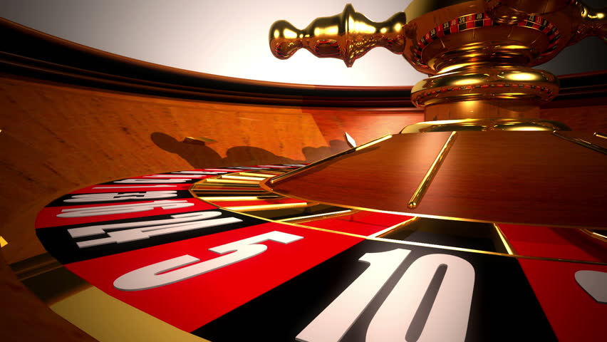 High Definition abstract CGI motion backgrounds ideal for editing, led backdrops or broadcasting featuring a roulette table spinning with the ball landing on 7 red
