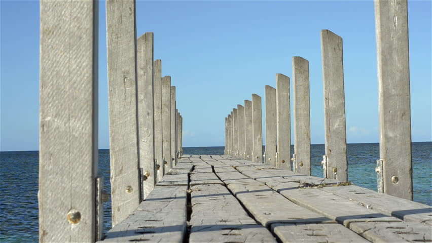 Quindalup Jetty, looking out into Geographe Bay, in Western Australia.