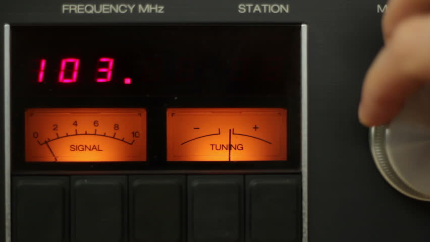 Tuning into Radio station, close up | Shutterstock HD Video #3714308