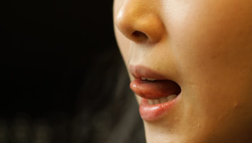 Asian wife cum mouth