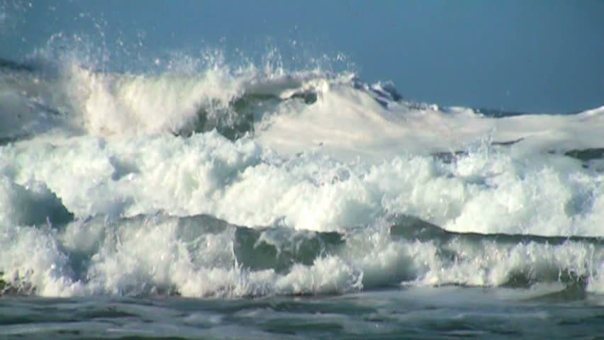 Ocean wave slow motion | Shutterstock HD Video #3735818