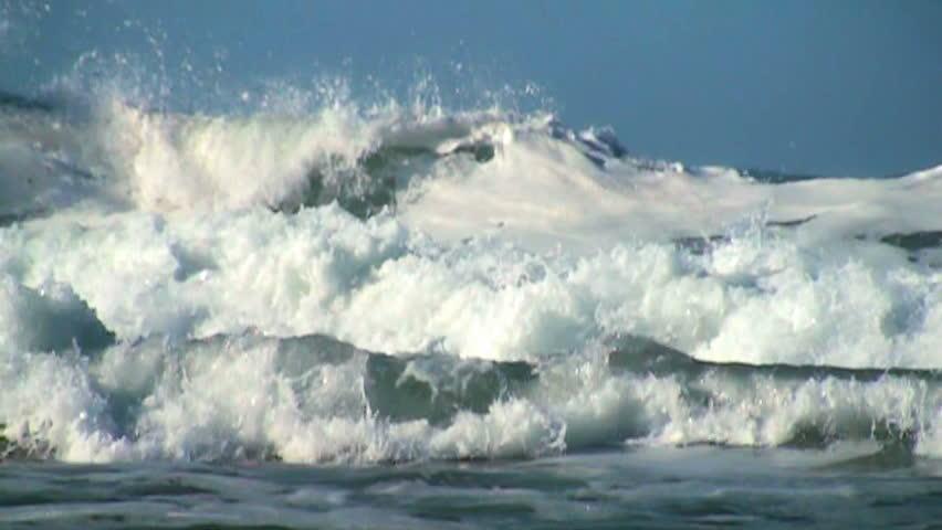 Ocean wave slow motion #3735818