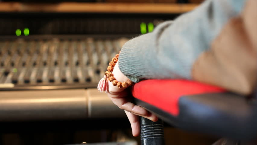Listen to the music in a recording studio