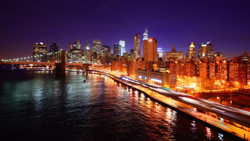 New York City time lapse from above the East River.