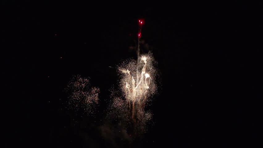 Firework in slow motion