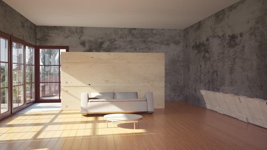 modern interior transformation video